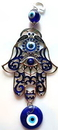 AzureGreen FWH009 Hand Evil Eye wall hanging