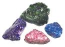 AzureGreen GFDYED Flat of Dyed Amethyst Druse