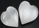 AzureGreen GHSELW White Selenite heart