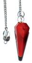 AzureGreen GPEND37 6-sided Red Carnelian pendulum