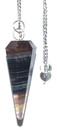 AzureGreen GPEND56 6-sided Multi Fluorite pendulum