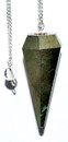AzureGreen GPEND69 6-sided Pyrite pendulum