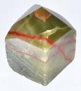 AzureGreen GPTARAG Aragonite, Green top polished point