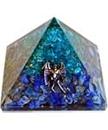 AzureGreen GPYOAL75 75mm Orgone Aquamarine & Lapis pyramid