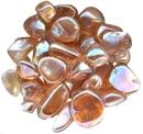 AzureGreen GTEGOLB 1 lb Gold AB electroplated tumbled stones