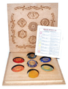 AzureGreen GWP204 Sanskrit Chakra set with box