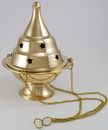 AzureGreen IB117 Hanging Brass Censer