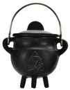 AzureGreen ICBR83 Triquetra Cast Iron Cauldron w/ Lid 2 3/4