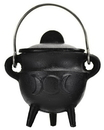 AzureGreen ICBR84 Triple Moon cauldron w/ Lid 2 3/4