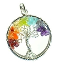 AzureGreen J7TREL 7 Chakra Tree of Life pendant silver