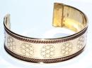 AzureGreen JB111FL Flower of Life copper & brass bracelet