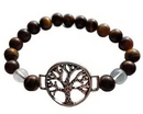AzureGreen JB8TET 8mm Tiger Eye/ Quartz with Tree of Life