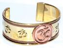 AzureGreen JBCOM Om copper bracelet