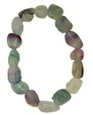 AzureGreen JBGFLUR Fluorite, Rainbow gemstone bracelet