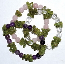 AzureGreen JBGPER Peridot Faceted with assorted gemstone bracelet