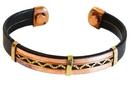 AzureGreen JBMAGL Copper & Leather Magnetic bracelet