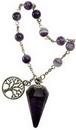 AzureGreen JBPAME Amethyst pendulum bracelet
