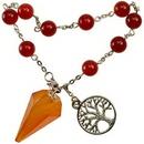 AzureGreen JBPCAR Carnelian pendulum bracelet