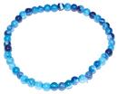 AzureGreen JBSBL 4mm Agate, Blue Lace stretch bracelet