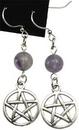 AzureGreen JECFLU Fluorite Pentagram earrings