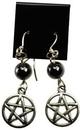 AzureGreen JECHEM Hematite Pentagram earrings