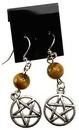 AzureGreen JECTE Tiger's Eye Pentagram earrings