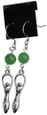 AzureGreen JEGGAV Green Aventurine Goddess earrings