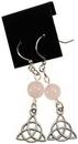 AzureGreen JERRQZ Rose Quartz Triquetra earrings