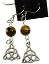 AzureGreen JERTE Tiger's Eye Triquetra earrings
