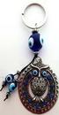 AzureGreen JK001 Owl Evil Eye keychain