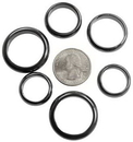 AzureGreen JRH6M 6mm Magnetic Hematite rings 50/bag