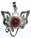 AzureGreen JSGANC Ganesha carnelian pendant