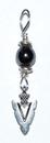 AzureGreen JSPARRH Arrowhead pendant with hematite bead
