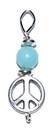 AzureGreen JSPPEAA Peace pendant with amazonite bead