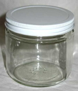 AzureGreen L16C 16oz Clear Glass Jar (c)
