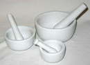 AzureGreen LMOR3 Mortar/Pestle Set of 3 White