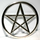 AzureGreen RPEN6 Cut-Out Pentagram altar tile 5 3/4