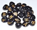 AzureGreen RRAGAB Agate, Black rune set