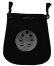 AzureGreen RVBMP Moon Phases Velveteen Black Bag 5