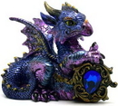 AzureGreen SD587 Blue Dragon w/ Stone 4