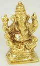 AzureGreen SG975 Ganesh Sitting Brass 3
