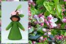 Eco Flower Fairies Apple Blossom Fairy (standing felt doll, flower hat)