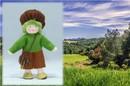 Eco Flower Fairies Earth Child (bendable felt doll)