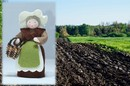 Eco Flower Fairies Mother Earth (standing felt doll)