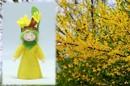 Eco Flower Fairies Easter Tree Fairy (standing felt doll, flower hat)