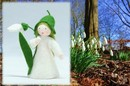 Eco Flower Fairies Snowdrop Fairy (standing felt doll, holding flower)