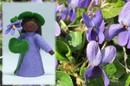 Eco Flower Fairies Sweet Violet Fairy (standing felt doll, holding flower)