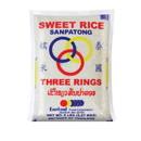 Three Ring Sweet Rice Sanpathong, 5 LBS, Case of 6