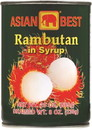 Asian Best Rambutan in Syrup, 20 OZ, Case of 24