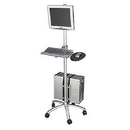 Ziotek Aluminum Mobile Computer Workstation Cart II ZT1110404
